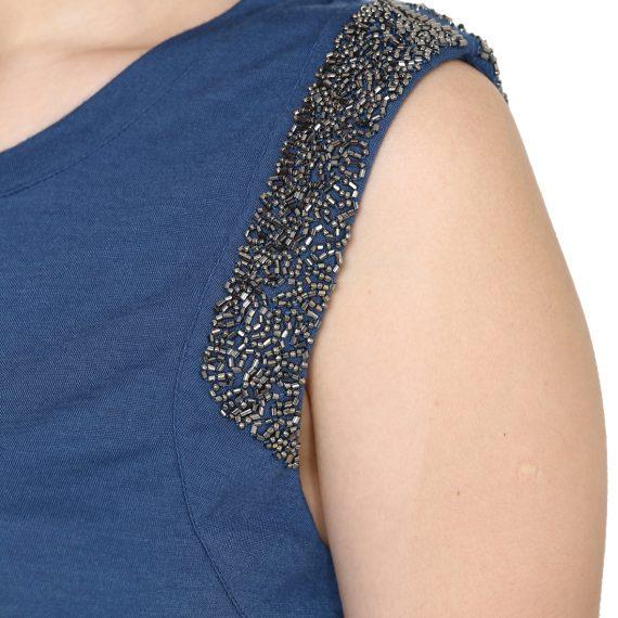 aesmarize #Aesmarizelogo #Aesmarize #aesmarize.com #aesmarizeimages #aesmarizpics aesmarize.com Dobby Bell-sleeve Printed Top#Aesmarizelogo #Aesmarize #aesmarize.com #aesmarizeimages #aesmarizpics aesmarize.com Embellished Knit Tees - S, Blue